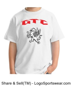 GTC Youth T Shirt-White Design Zoom