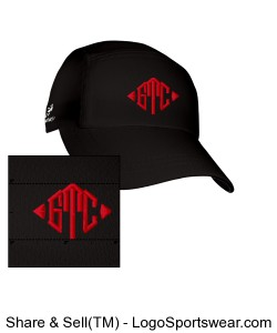 GTC Black Headsweats Race Hat Design Zoom