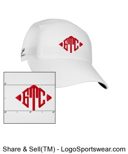 White GTC Headsweats Race hat Design Zoom