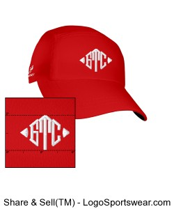 GTC Headsweats Race Hat-Red Design Zoom
