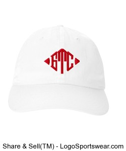 GTC Champion 6 Panel Low Profile Brushed Cotton Cap-White Design Zoom